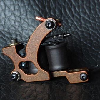 Harga Panther XHJ003C 10-Coil Shader Tattoo Machine Red Bronze - intl