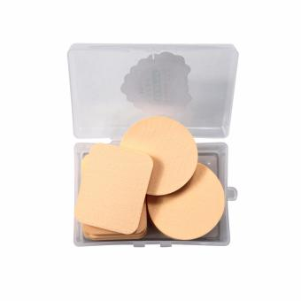 Harga Powder Puff Soft Round and Rectangle Sponge Make Up 10 pcs