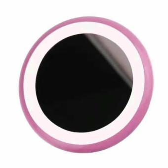 Rechargeable Donut-Shaped LED Cosmetic Mirror (Pink) Price Philippines
