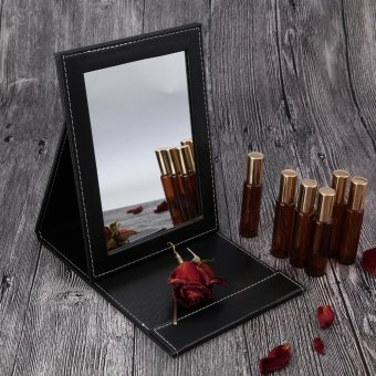 niceE shop Tabletop Vanity Makeup Mirror Portable Folding Mirrors Super Slim Travel Mate Mirror - intl Price Philippines