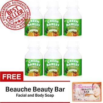 Harga HWIC Health and Wealth Green Barley Bottles of 6 with FREE BEAUCHE BEAUTY BAR