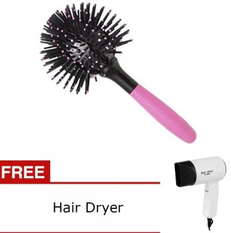 Harga 3D Bomb Curl Brush with FREE Super Silent Hair Dryer