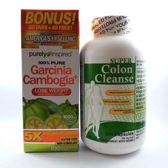 Purely Inspired Garcinia Cambogia, 100 tablets with Super Colon Cleanse, 240 capsules Price Philippines
