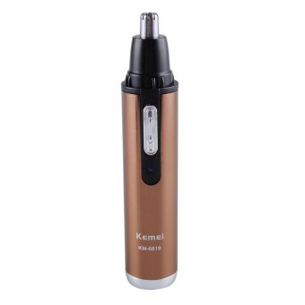 Harga Kemei KM-6619 Rechargeable Men Nose Ear Nasal Face Hair Removal Trimmer Shaver Clipper