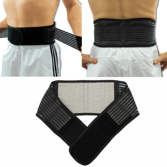 Harga L Size New Magnetic Heat Waist Belt Brace For Pain Relief Lower Back Therapy Support - intl