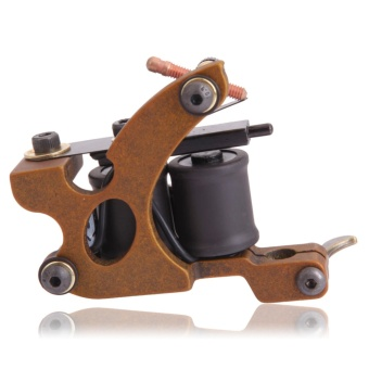 Harga Panther XHJ004C 10-Coil Shader Tattoo Machine Reddish Brown - intl