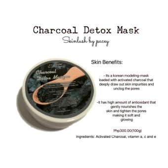 Skinlush by Pacey Charcoal Detox Mask 100g Price Philippines