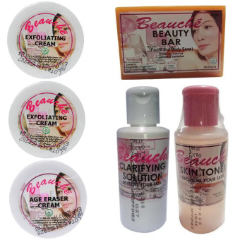 Beauche Beauty Pack Set (Creams are 2 Exfoliating Cream and 1 Age Eraser Cream) Price Philippines
