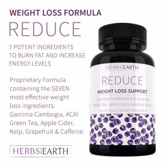Reduce Advanced Weight Loss - Garcinia, Acai, Green Tea, Apple Cider, Kelp, Grapefruit, All Natural 60 Capsules Price Philippines