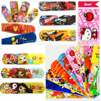 Pack Cartoon Decorative Adhesive Bandages Band Aids Cute Kids Children - intl Price Philippines