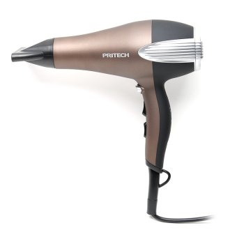 Harga PRITECH TC-3332 Hair Dryer Professional Beauty Salon Blow Dryer Hot and Cold Wind Best & Cheap (Brown)