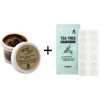 Korean Cosmetics Skinfood Black Sugar Mask Wash Off + Tea Tree Spot Patch Price Philippines