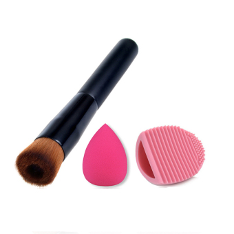 Harga New Make Up Fat Pier Foundation Makeup Brush Silver Powder Puff Wash Eggs - intl