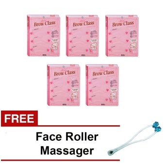 Harga Mini Brow Class Eye Brow Stencil Drawing Guide Set of 5 with Free Face Roller Massage