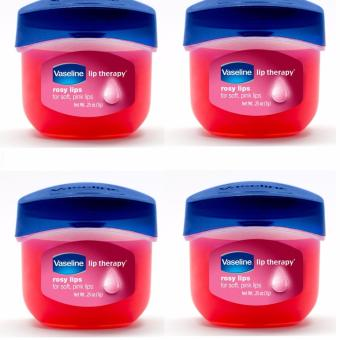 Harga 4pcs Vaseline Lip Theraphy Rosy Lips