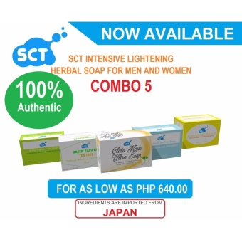 5 Pieces SCT Intensive Whitening Herbal Soaps Combo 5 Price Philippines