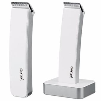 Harga Gemei 717 Electric Hair Clipper and Trimmer Razor (White)