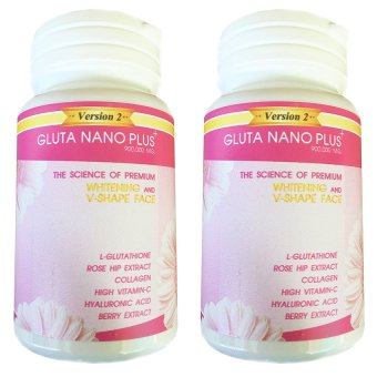 Gluta Nano Plus+ 900,000 mg L-Glutathione Rose Hip Extract and Collagen, Bottle of 2 Price Philippines