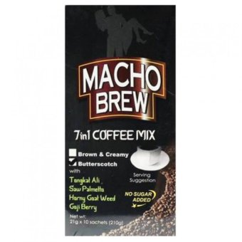 Harga Alliance Global Macho Brew 7 in 1 Coffee Mix Box of 10 Sachets