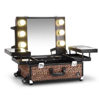 Harga Gladking Philippines Regular Hollywood Vanity Trolley/ 9552K-ALP (Animal Leopard)