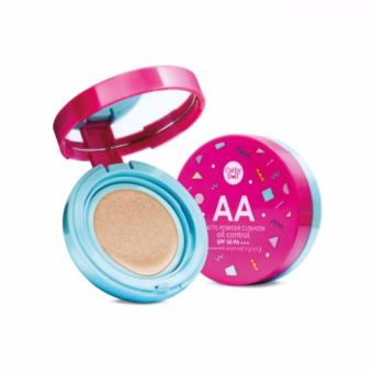 Harga Cathy Doll AA Matte Powder Cushion Oil Control SPF50 PA+++(#23 Natural Beige)