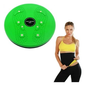 Harga Waist Twisting Disc Healthy Massager (Green) With Hot Shaper Large Women's Shapewear (Black)