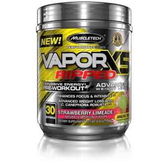 MuscleTech Vapor X5 Ripped Advanced Weight Loss Formulated Pre-Workout - 30 servings - Strawberry Limeade Price Philippines