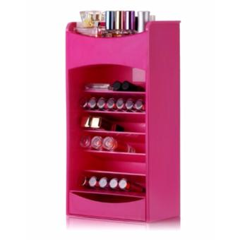 Cosmetic Lipstick & Nail Polish Organizer Pink Price Philippines