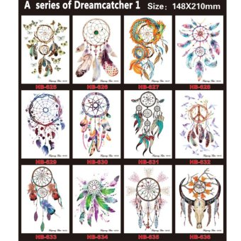 Harga 12 Sheets A series of constellations Temporary Tattoo Stickers - intl