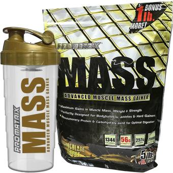 Harga Promatrix Mass Advanced Muscle Mass Gainer 5lbs + 1lb Bonus with Free Shaker