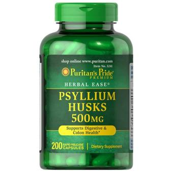 Authentic Puritan's Pride Psyllium Husks fiber 500mg for Digestive health and Colon cleanser aids Weight-Loss bottle of200 capsules Price Philippines