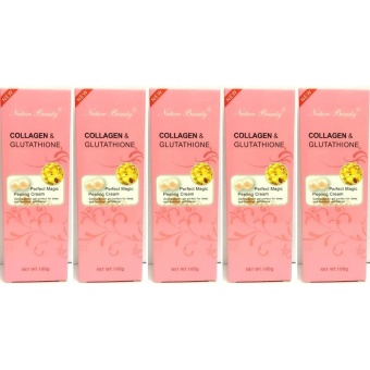 Harga Nature Beauty Collagen and Glutathione Peeling Cream 100g Bundle of 5