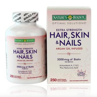 Harga Nature's Bounty Extra Strength Hair Skin Nails, 250 Softgels