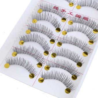 Lady 10 Pairs Cross Natural Extension Long Fake False Eyelashes Beauty Price Philippines