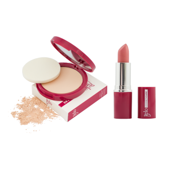 Harga Belo Cosmeticare Face Powder (Light) with Lipstick (Rosy Nude)