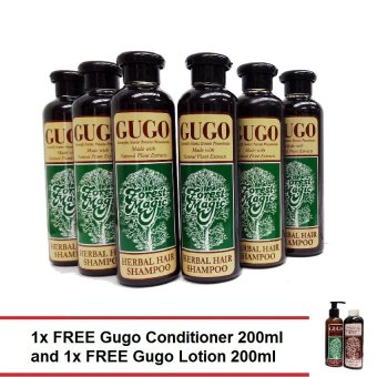 Harga Forest Magic Gugo Herbal Hair Shampoo 250ml Gift Set with FREE Gugo Conditioner 200ml and Lotion 200ml in special Kraft box. Savings valued at P400.00