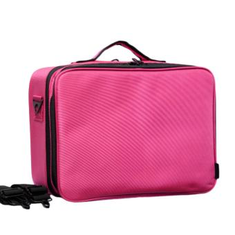 Harga Gladking Philippines Large Nylon Organizer 2 Zipper Traveller/ NO2ZIPL-PK (Fuchsia)