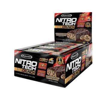 MuscleTech Nitro-Tech Crunch: Incredible Muscle Building Protein Bar - 12/box - Cookies and Cream Price Philippines