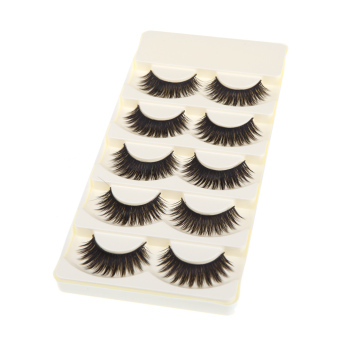 5 Pairs False Eyelashes Pure Hand-made Thick Long Voluminous Fake Lashes Price Philippines