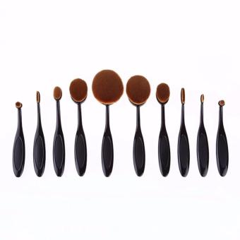 Harga 10Pcs Oval Cream Puff Cosmetic Shaped Power Makeup Toothbrush Foundation Brushes