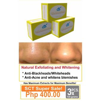 3 Pieces SCT Kojic Tea Tree Soap Intensive Herbal Whitening for Men and Women Price Philippines
