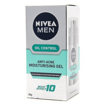 Harga Nivea Men Oil Control Anti-acne Moisturizing Gel 50g