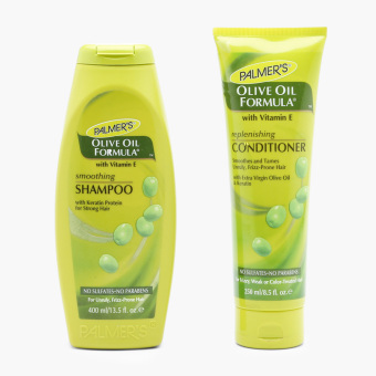 Harga Palmer's Olive Oil Formula Smoothing Shampoo and Replenishing Conditioner