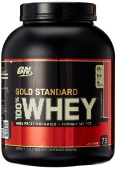 Harga Optimum Nutrition 100% Whey Gold Standard Delicious Strawberry 2.27kg