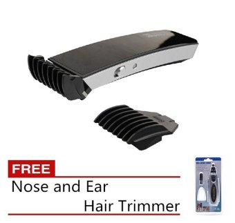 Harga Pritech iTrimmer 1288 Hair Trimmer (Black) with Free Nose and Ear Hair Trimmer