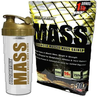 Harga Promatrix Mass Advanced Muscle Mass Gainer 10lb s + 1lb Bonus with Free Shaker