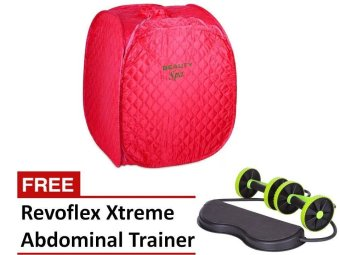Harga Portable Personal Therapeutic Steam Sauna SPA Slim Detox-Weight Loss Home Indoor (PINK) w/ FREE Revoflex Xtreme Abdominal Trainer