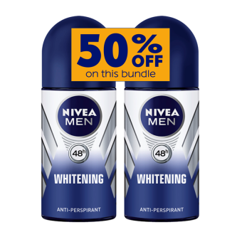 Harga Nivea Whitening Roll On Deodorant for Men 50ml Set of 2