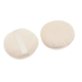 Harga eMylo 2 PCS 6cm Circular Velour Face Powder Puff Cosmetic Makeup Sponges