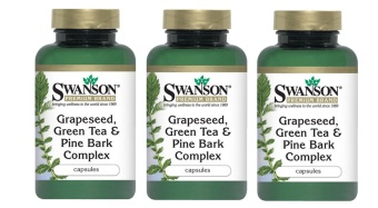 Harga Swanson Health Vitamins Grapeseed Green Tea Pine Bark Complex Capsules Bottle of 60 Bundle of 3
